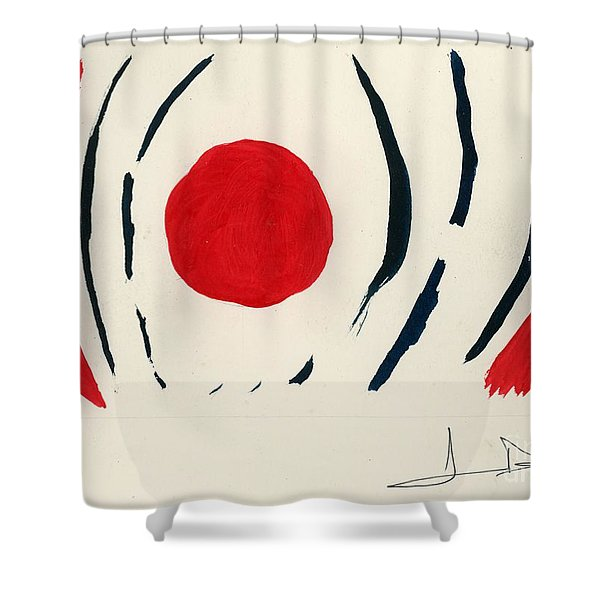 Oriental Sun Shower Curtain