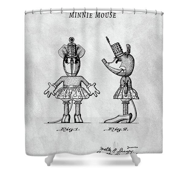 Original Minnie Mouse Patent Shower Curtain