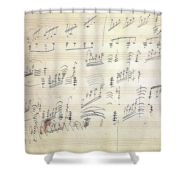 Original Score Of Beethoven's Moonlight Sonata Shower Curtain