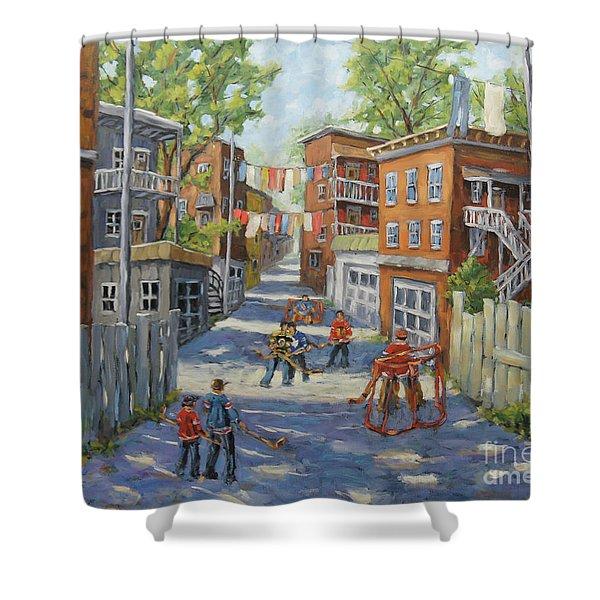 Original Six Back Lanes  Shower Curtain