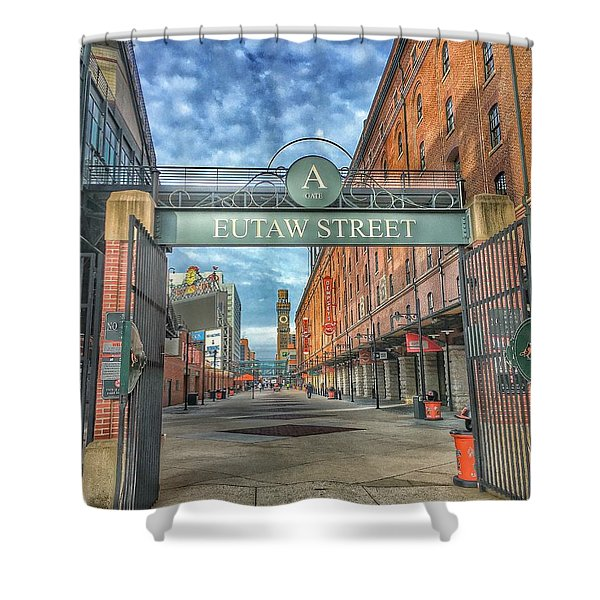 Oriole Park At Camden Yards - Eutaw Street Gate Shower Curtain