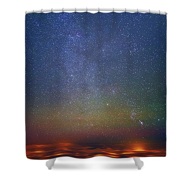Orion Rising Shower Curtain