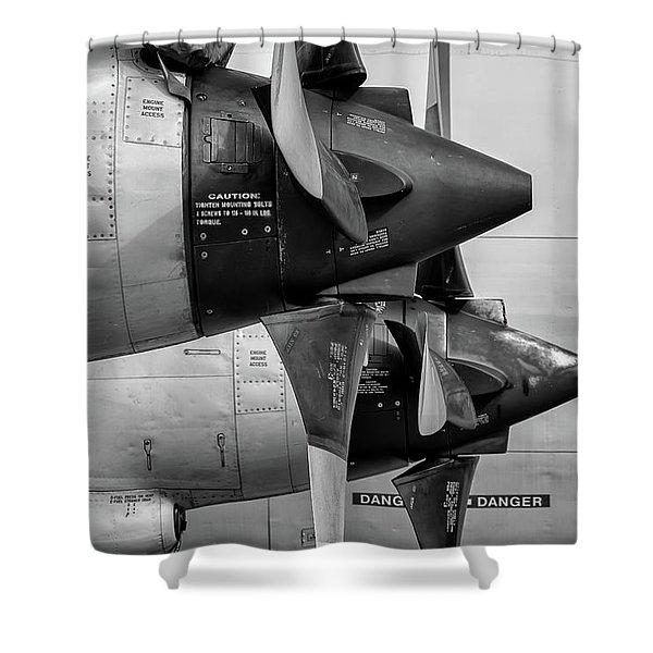 Orion's Thrust - 2017 Christopher Buff, Www.aviationbuff.com Shower Curtain