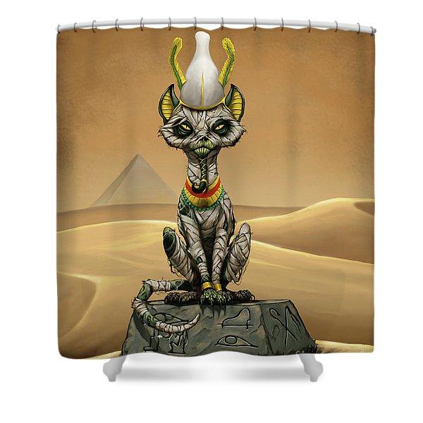 Osiris Egyptian God Shower Curtain