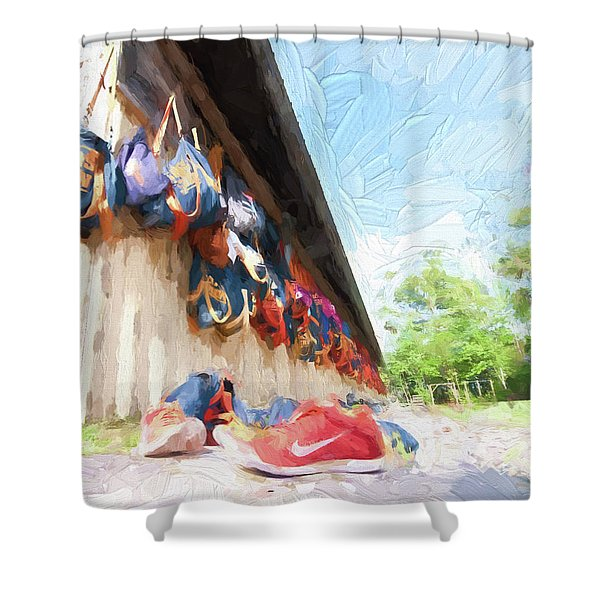 Orlando Area Rowing Society Shower Curtain