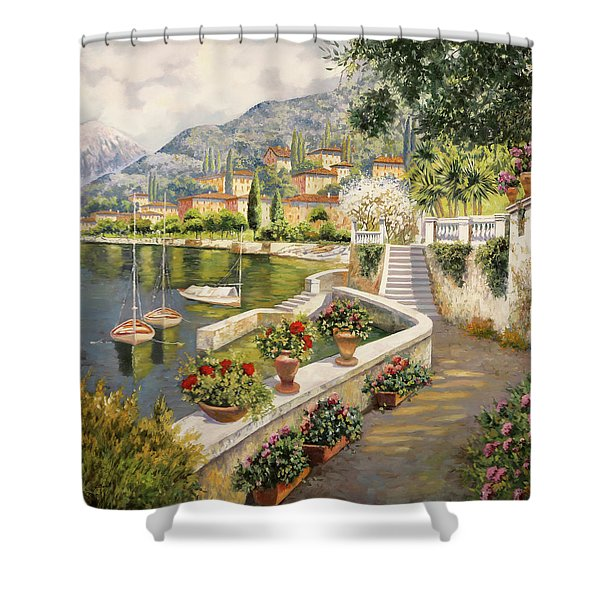 ormeggio a Bellagio Shower Curtain
