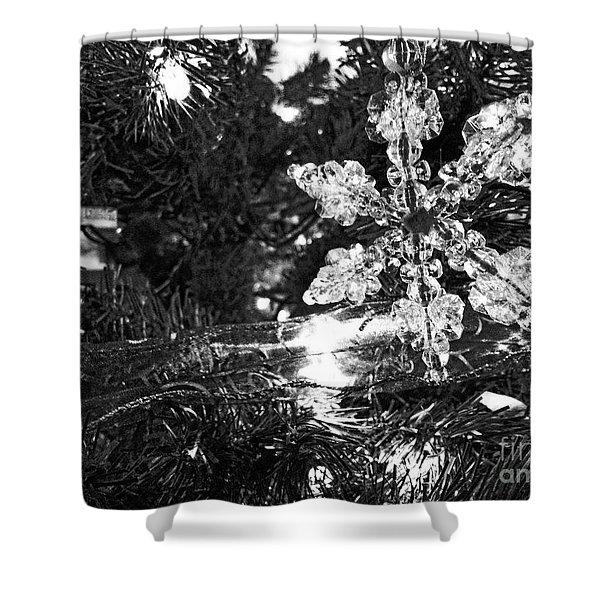 Ornamental Snowflake Shower Curtain