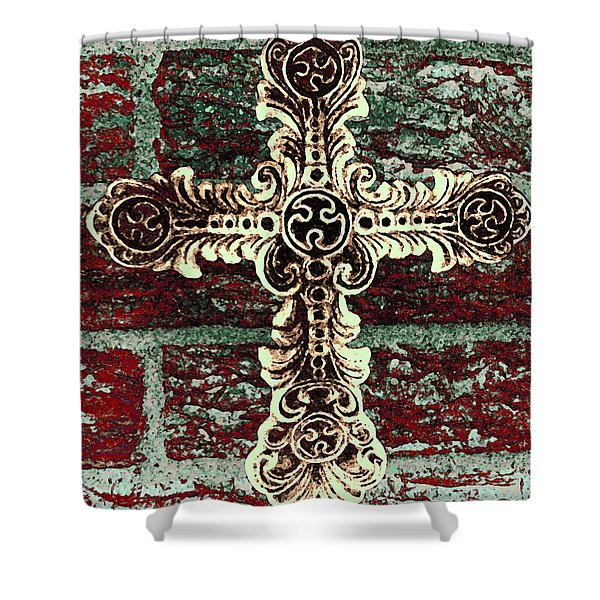 Ornate Cross 1 Shower Curtain