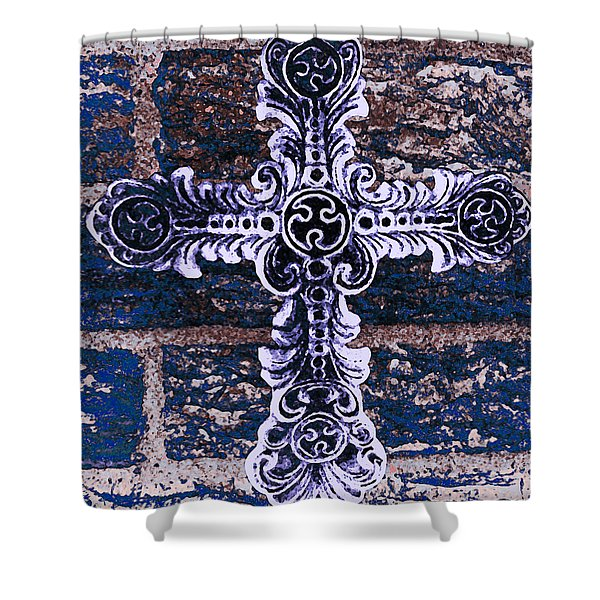 Ornate Cross 2 Shower Curtain