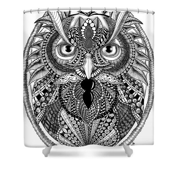 Ornate Owl Shower Curtain