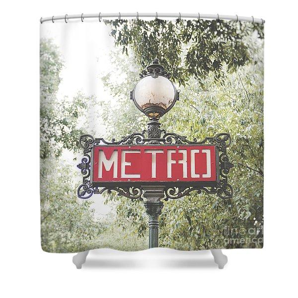 Ornate Paris Metro Sign Shower Curtain