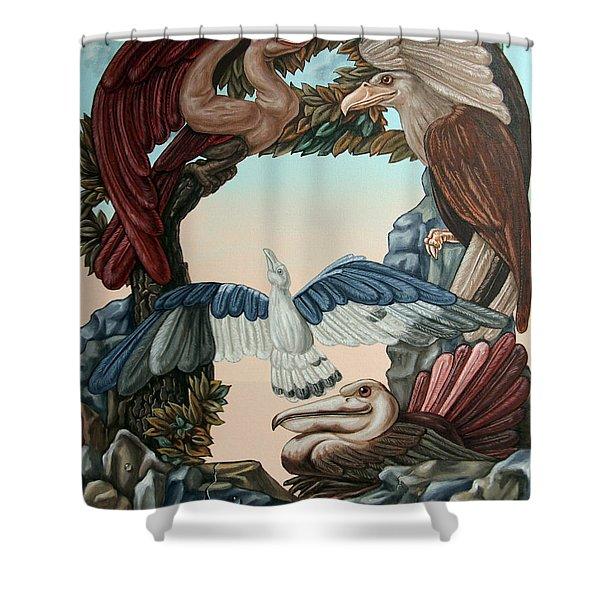 Ornithological Symphony By Ludwig Van Beethove Shower Curtain