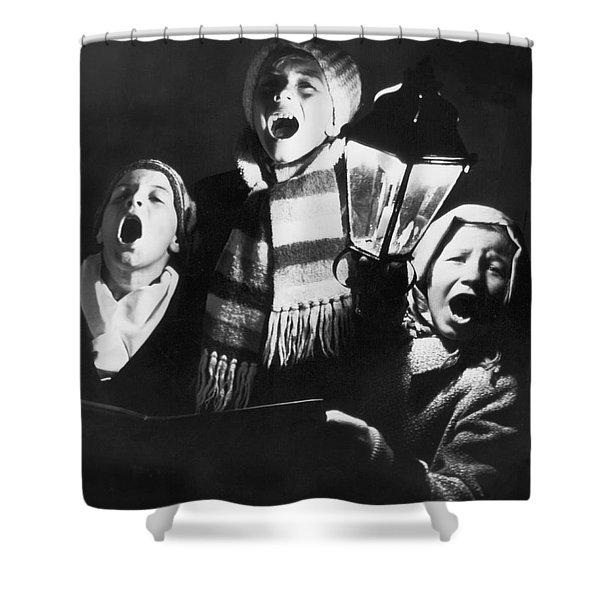 Orphans Sing Christmas Carols Shower Curtain