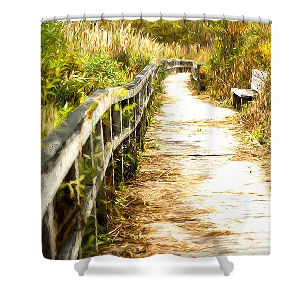 Orr Bog Walk Shower Curtain