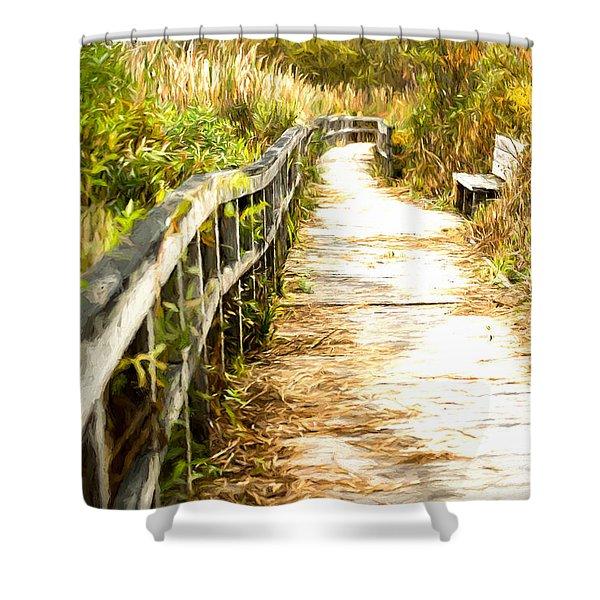 Orr Bog Walk Shower Curtain