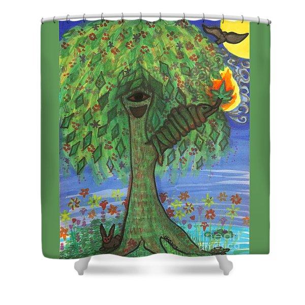 Osain Tree Shower Curtain