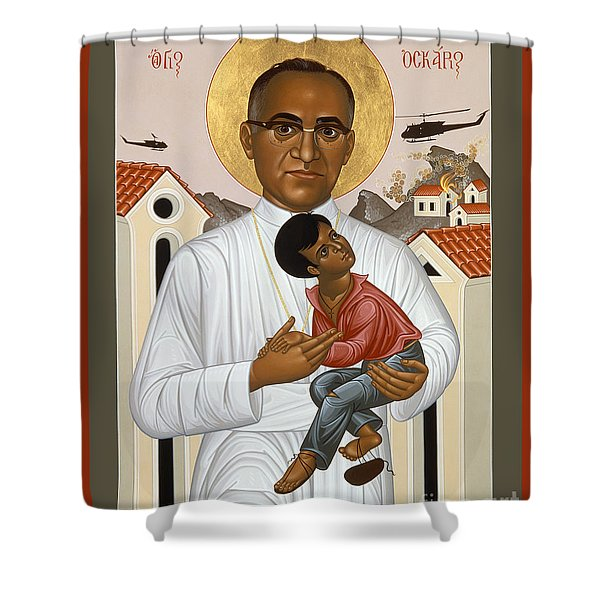 St. Oscar Romero Of El Salvado - Rlosr Shower Curtain