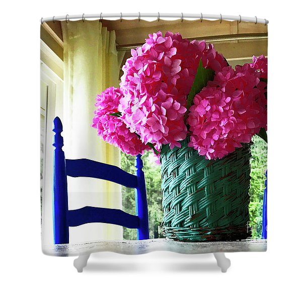Otisco Morning Shower Curtain