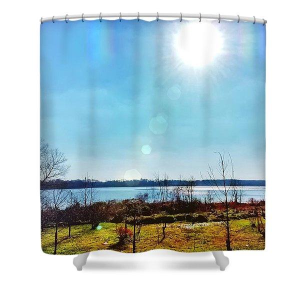 Otter Point Creek Shower Curtain