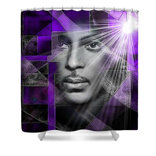 Our Beautiful Purple Prince Shower Curtain