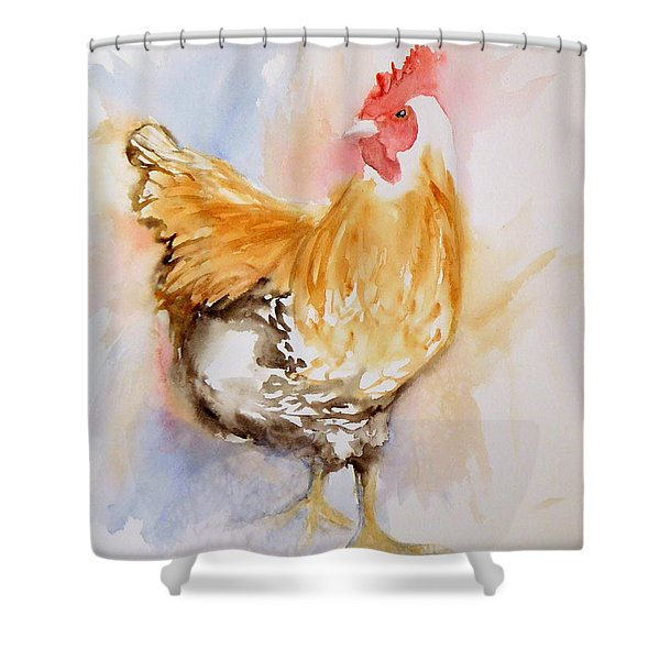 Our Buff Rooster  Shower Curtain
