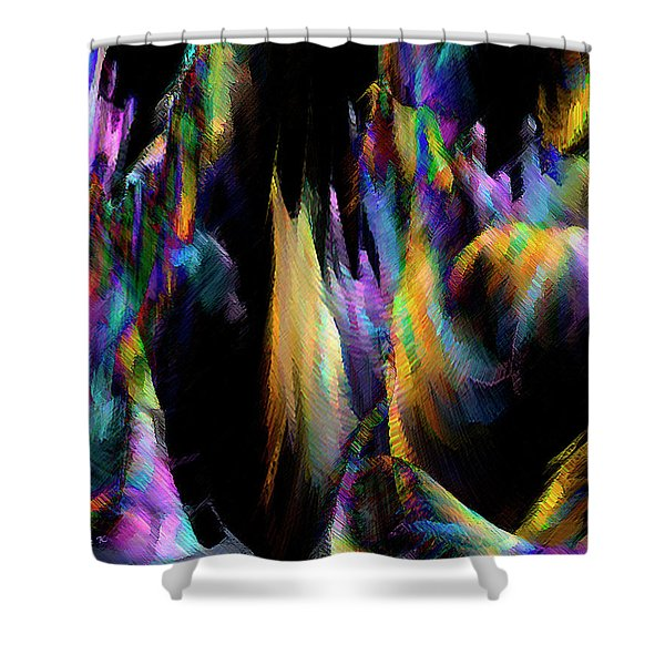 Shower Curtain featuring the digital art Our Colorful Planet by Gerlinde Keating - Galleria GK Keating Associates Inc