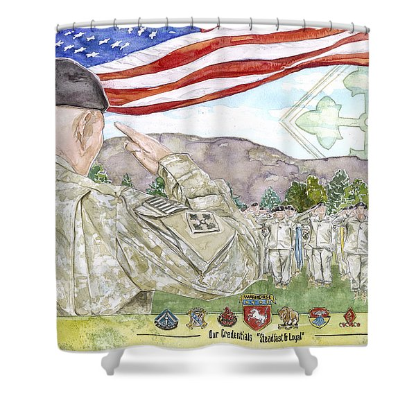 Our Credentials Steadfast And Loyal Shower Curtain
