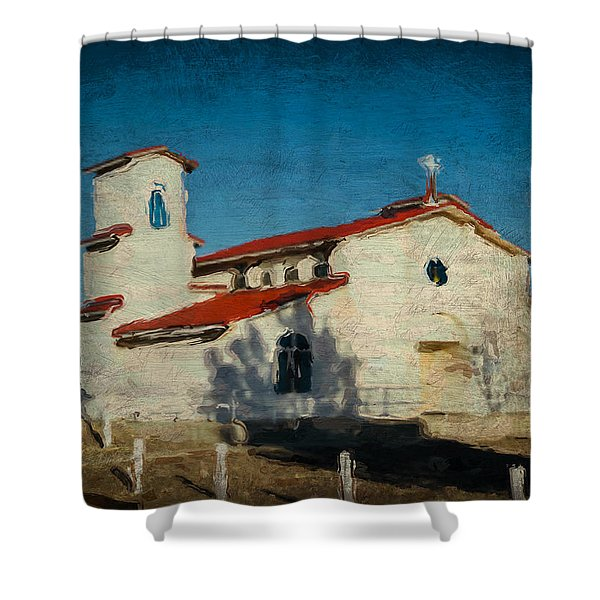 Our Lady Of La Salette Mission Paint Shower Curtain
