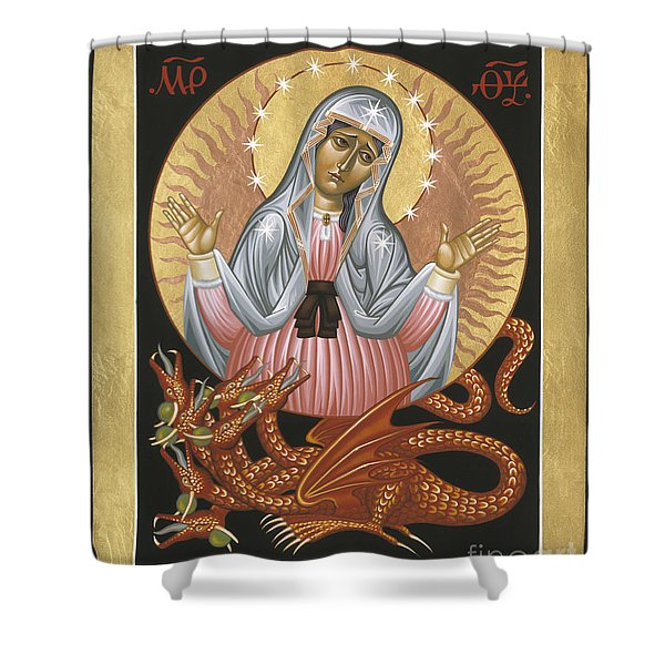 Our Lady Of The Apocalypse 011 Shower Curtain