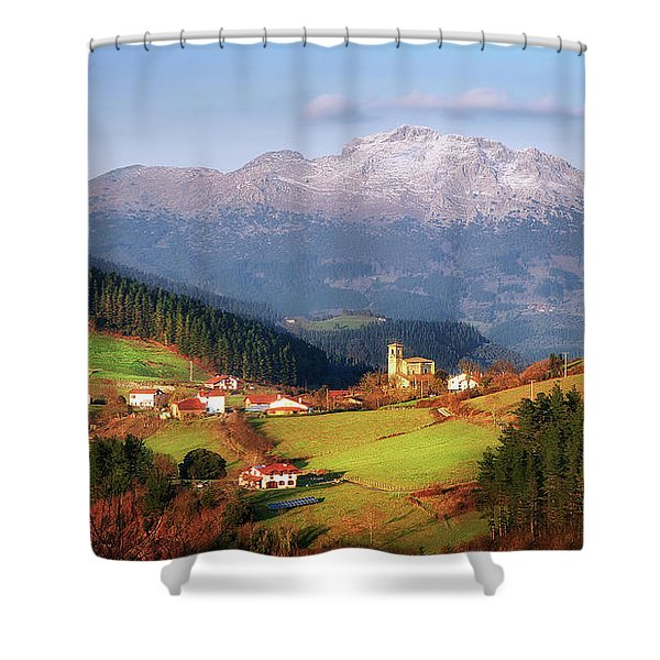 Our Little Switzerland Shower Curtain