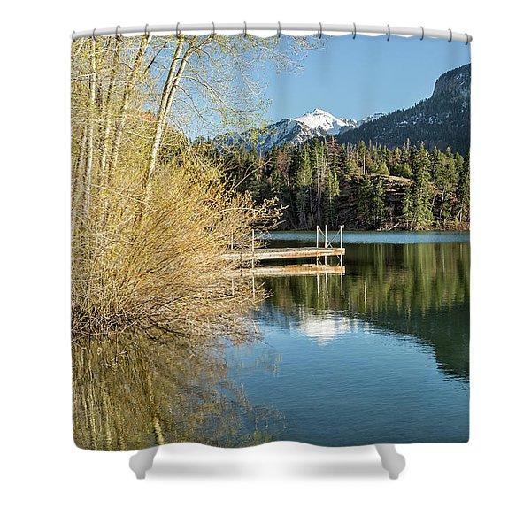 Ouray County Postcard Scene Shower Curtain