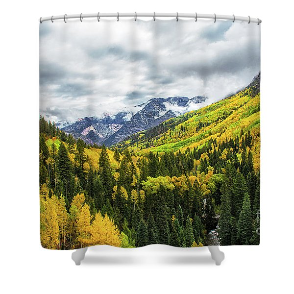 Ouray Morning Shower Curtain