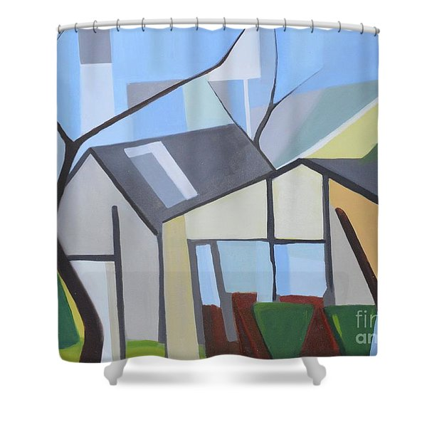 Out Back Down Oakwood Shower Curtain
