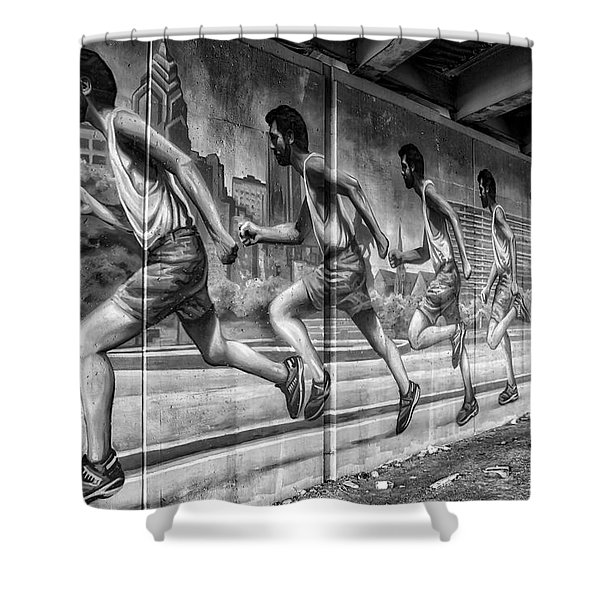 Out For A Run Shower Curtain