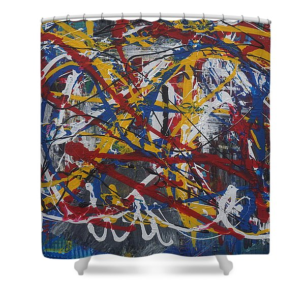 Out Of Control Shower Curtain