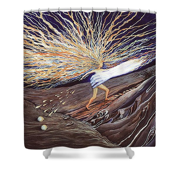 Out Of The Miry Clay Shower Curtain