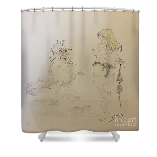 Out Of Your League  Shower Curtain