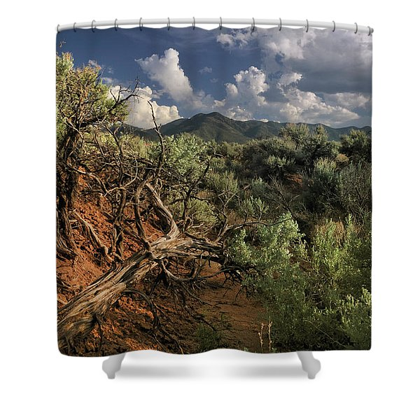 Out On The Mesa 2 Shower Curtain