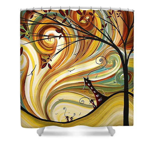 Out West Original Madart Painting Shower Curtain