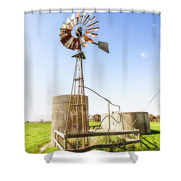 Outback Australian Farm Mill Shower Curtain
