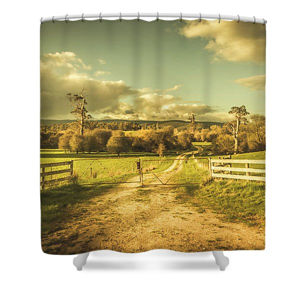 Outback Country Paddock Shower Curtain