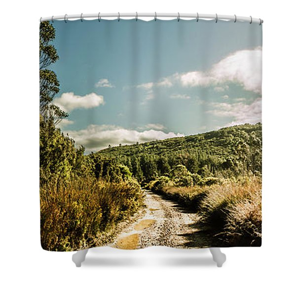 Outback Country Road Panorama Shower Curtain