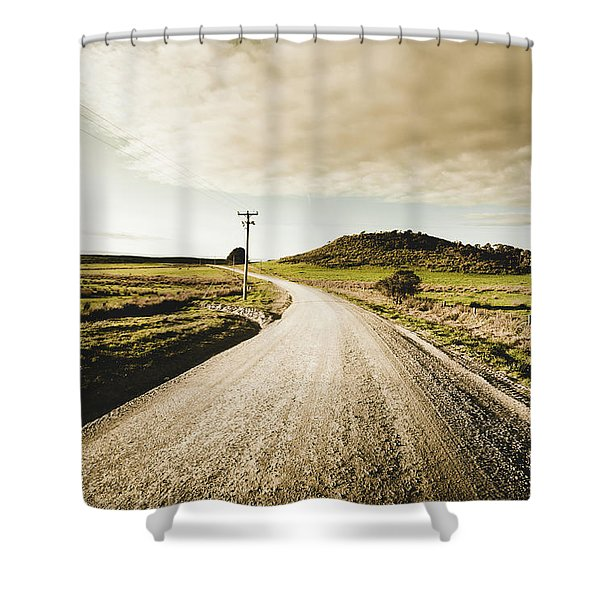 Outback Gravel Track Shower Curtain