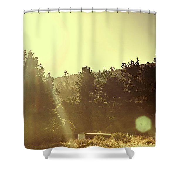 Outback Radiance Shower Curtain