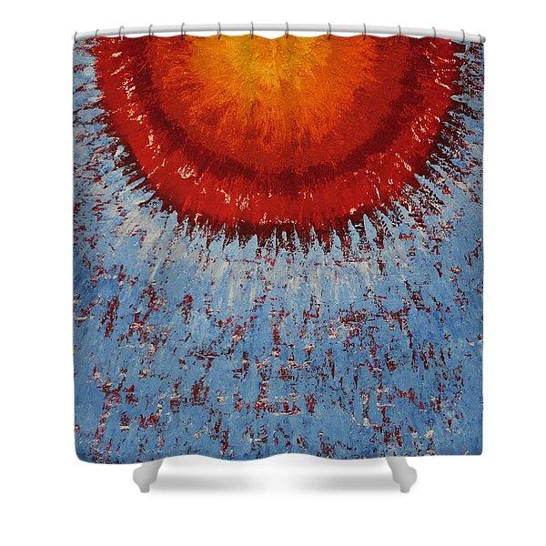 Outburst Original Painting Shower Curtain