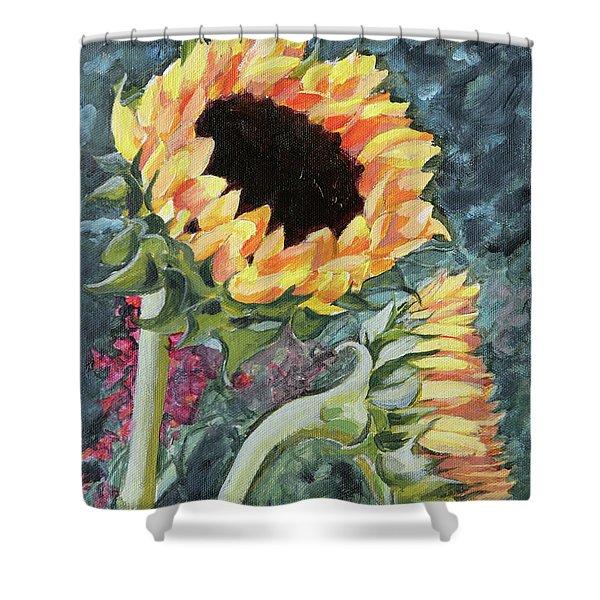 Outdoor Sunflowers Shower Curtain