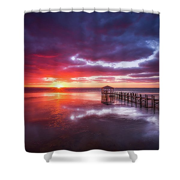 Outer Banks Duck North Carolina Sunset Seascape Photography Obx Shower Curtain