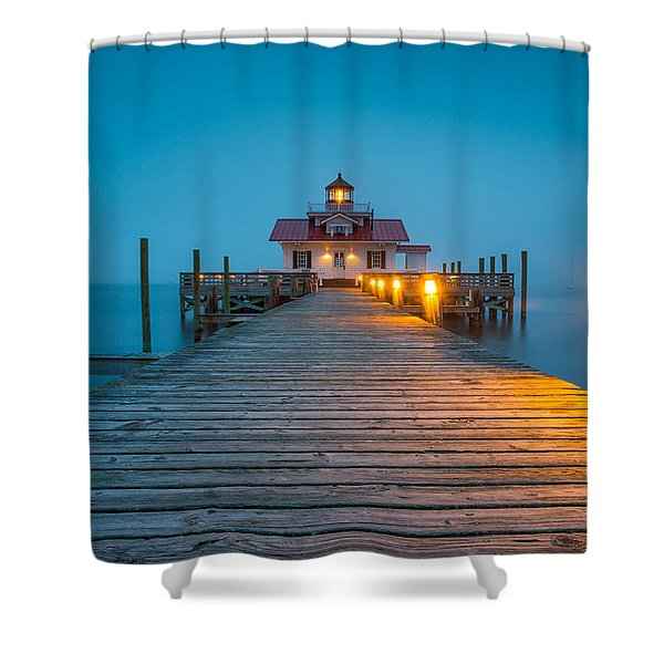 Outer Banks Manteo Nc Roanoke Marshes Lighthouse Obx North Carolina Shower Curtain