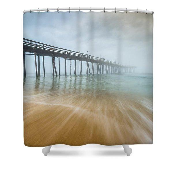 Outer Banks North Carolina Nags Head Obx Nc Beach Pier Seascape Shower Curtain