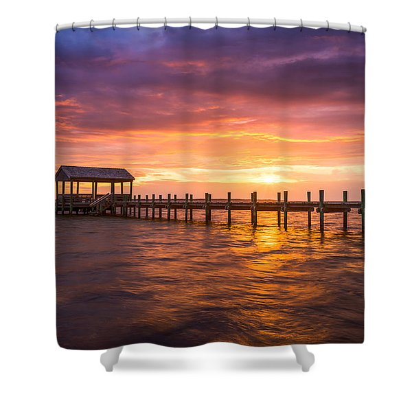 Outer Banks North Carolina Nags Head Sunset Nc Scenic Landscape Shower Curtain